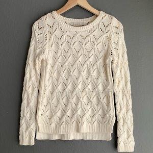 Ann Tayolor LOFT Crochet Sweater